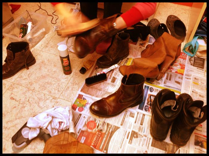 schoenenpoetsen